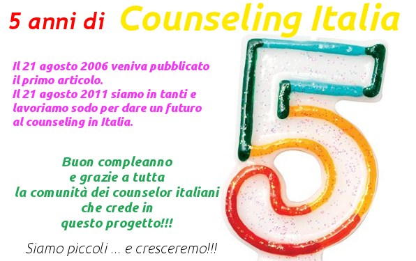 5 compleanno counseling italia